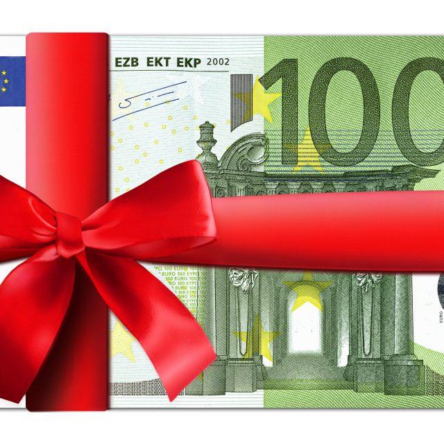 100 Euro Schein mit roter Schleife